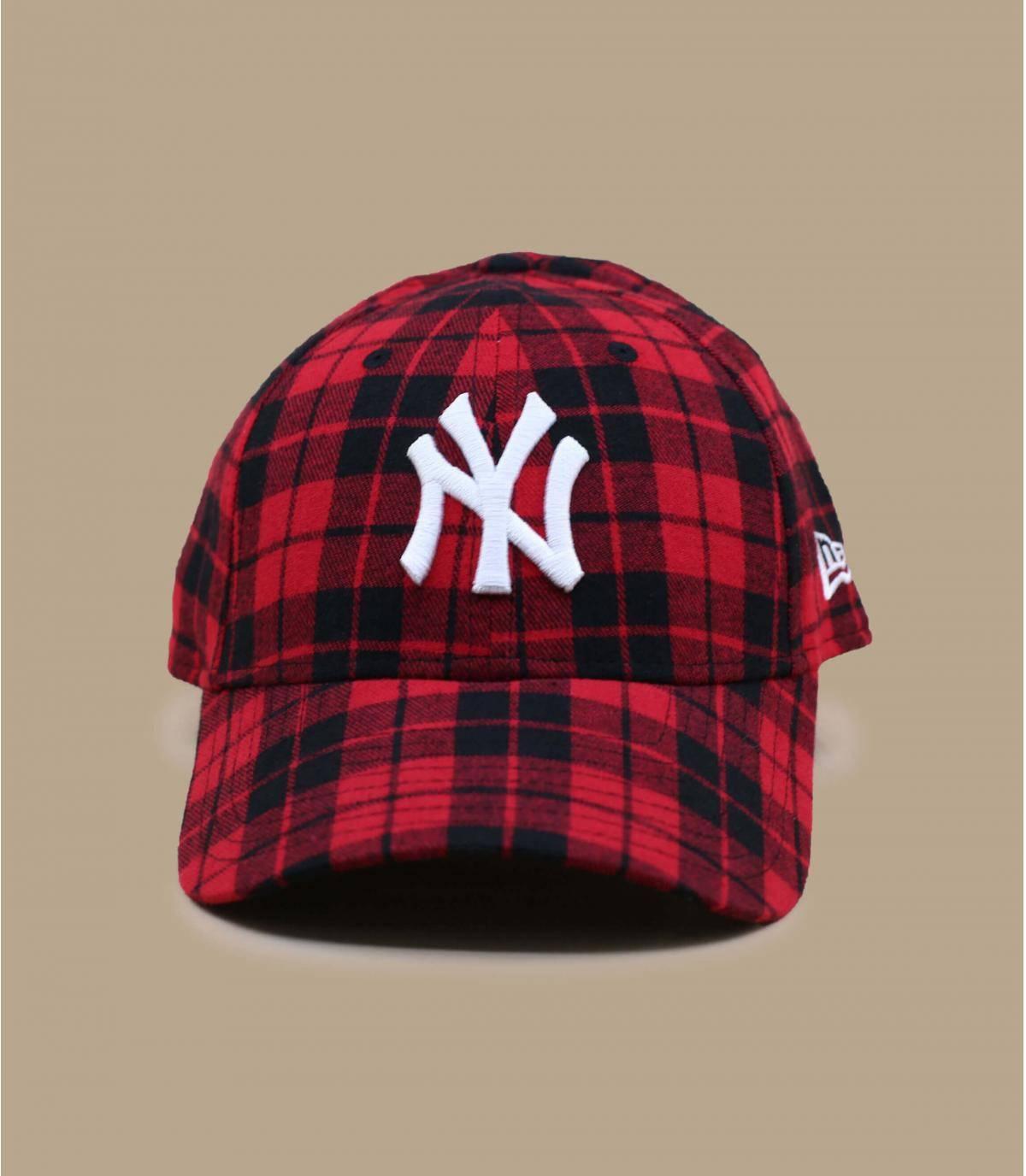 NY plaid cap