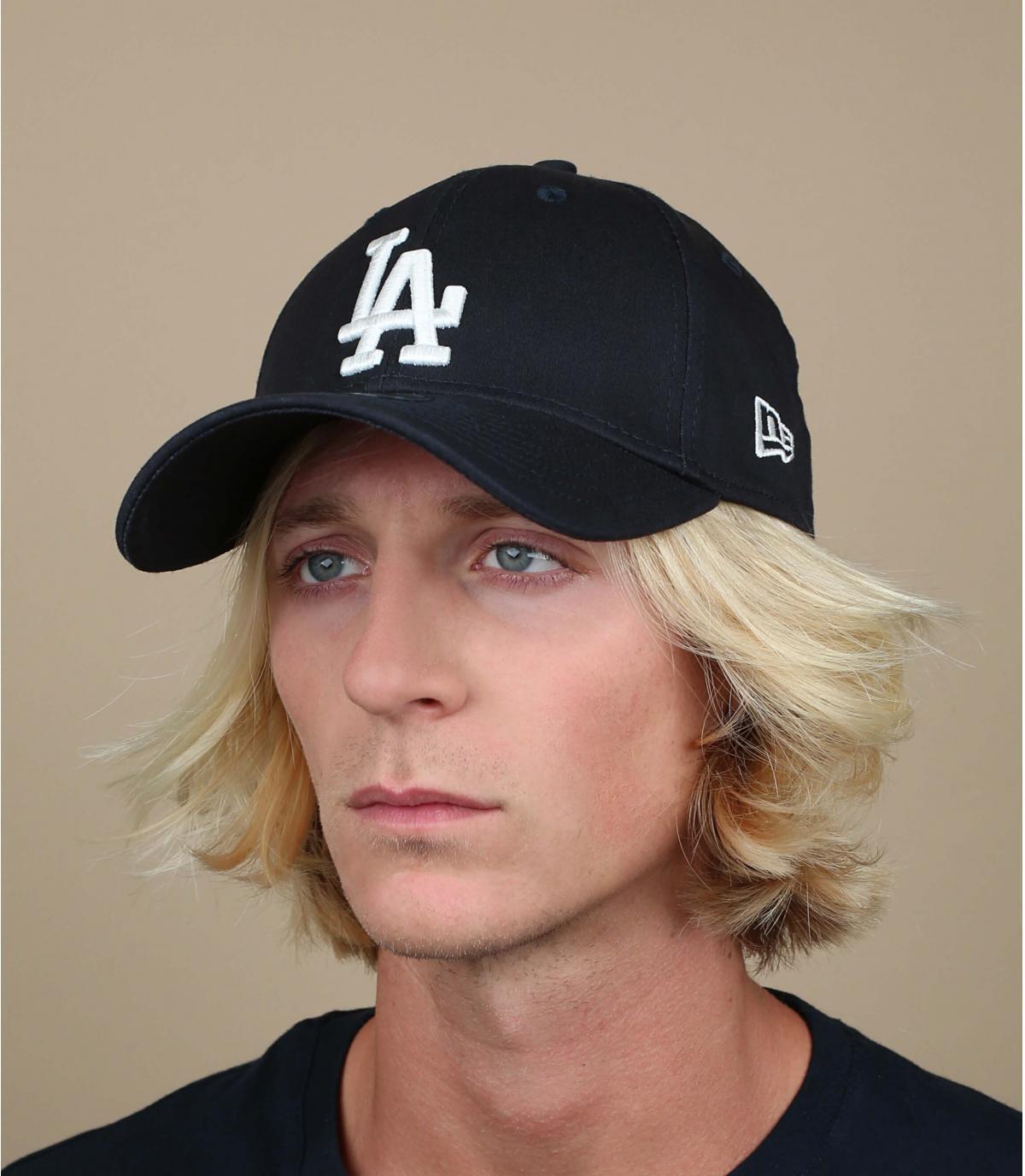 Navy LA trucker cap