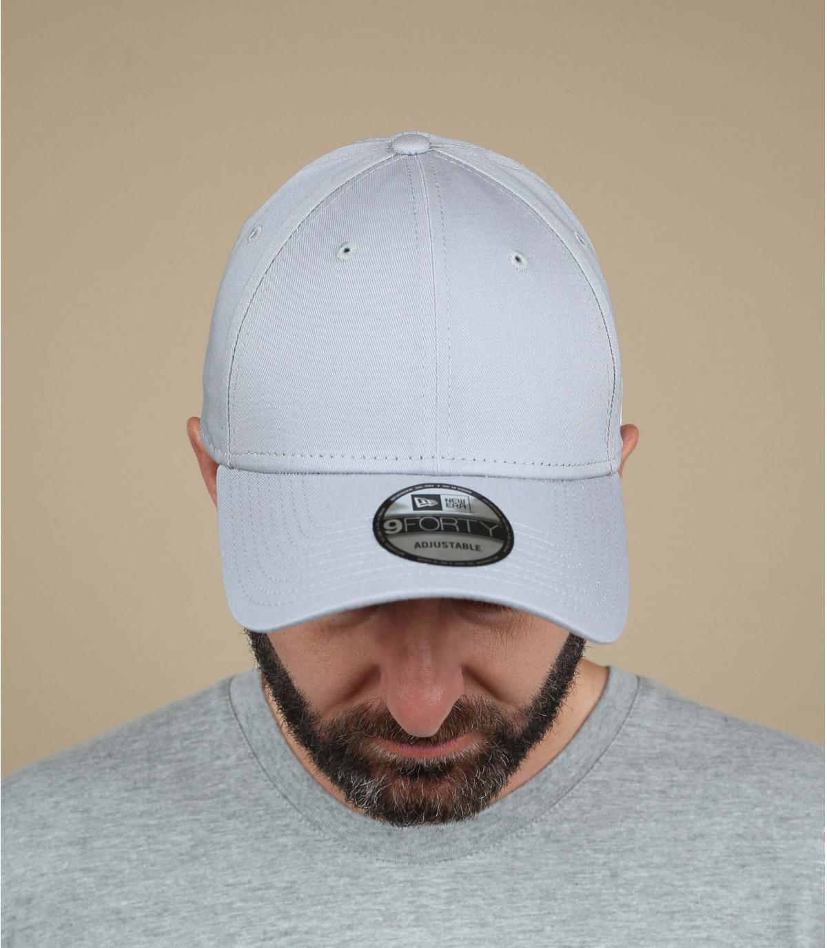 Grey curved visor cap