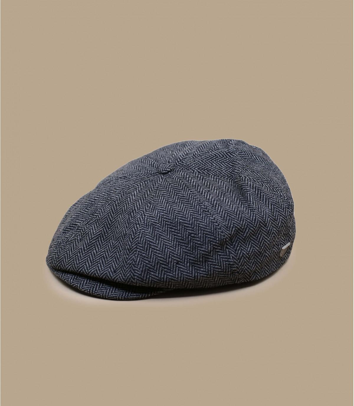 Gray flat cap