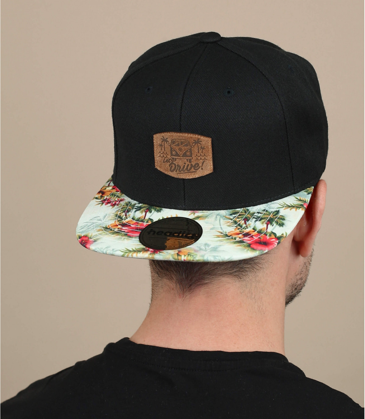 black and flowers drive snapback