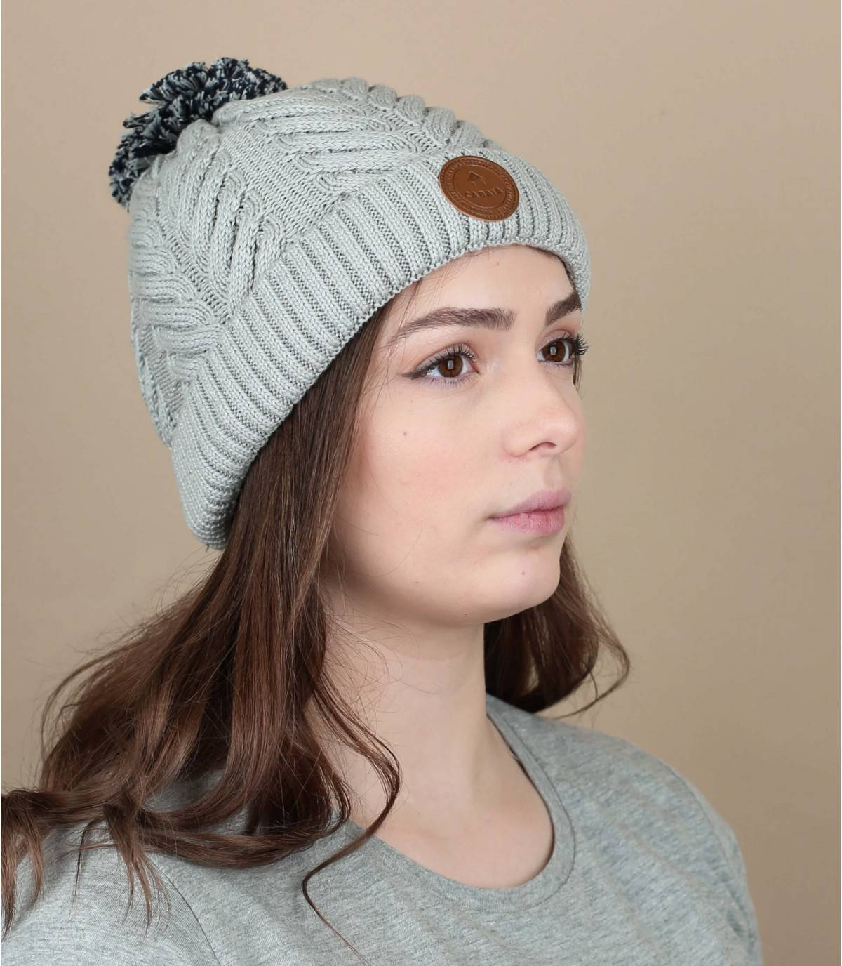 Grey organic cotton beanie