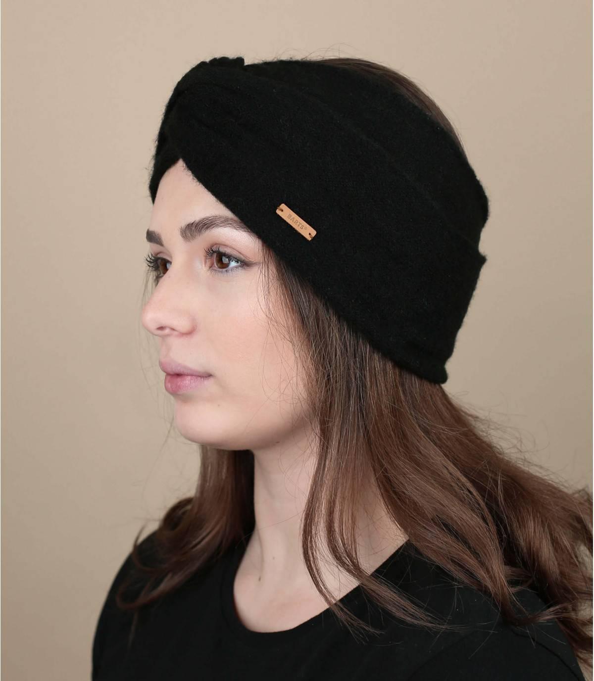 Black winter headband