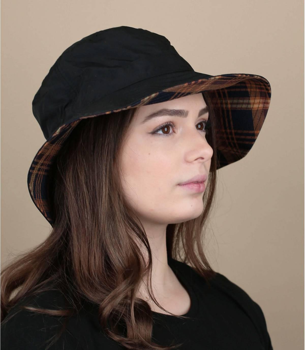 Black bucket hat weatherproof