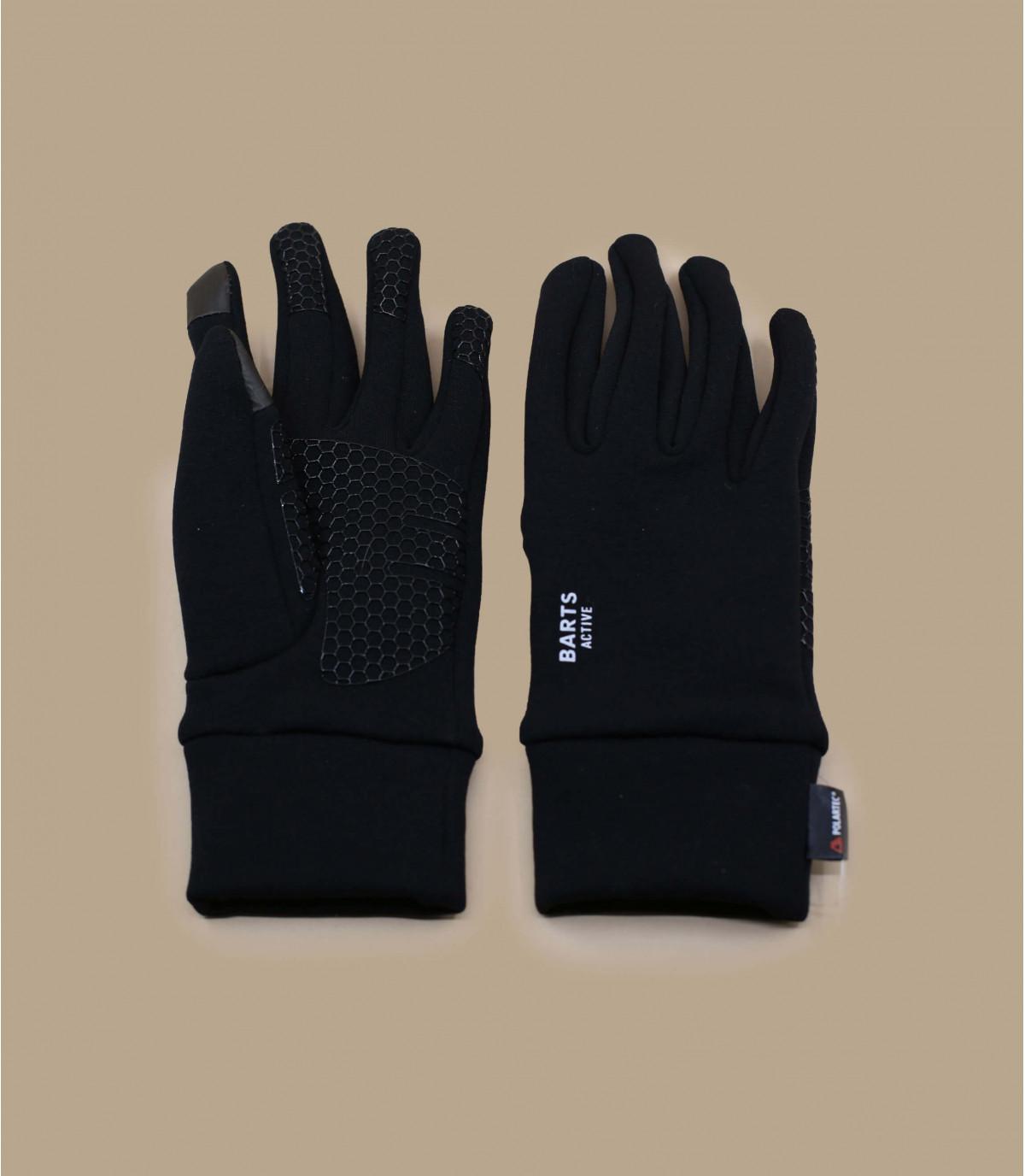 Black smartphone gloves