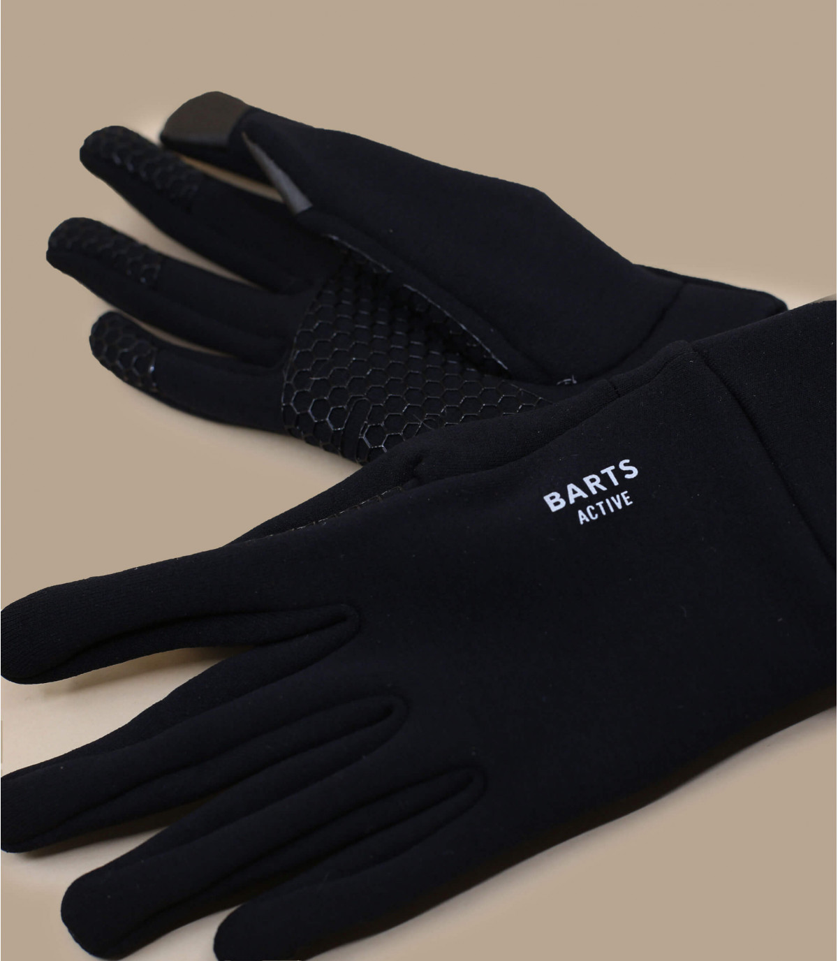 Détails Fine knitted touch gloves black - image 3