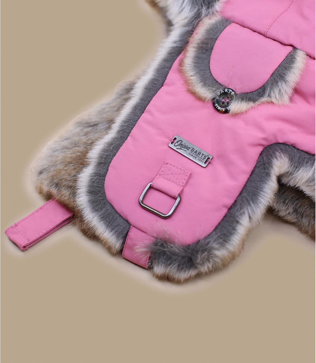 Pink kids trapper hat - Kamikaze Kids fuchsia by Mitchell and Ness. 903a0e845b1
