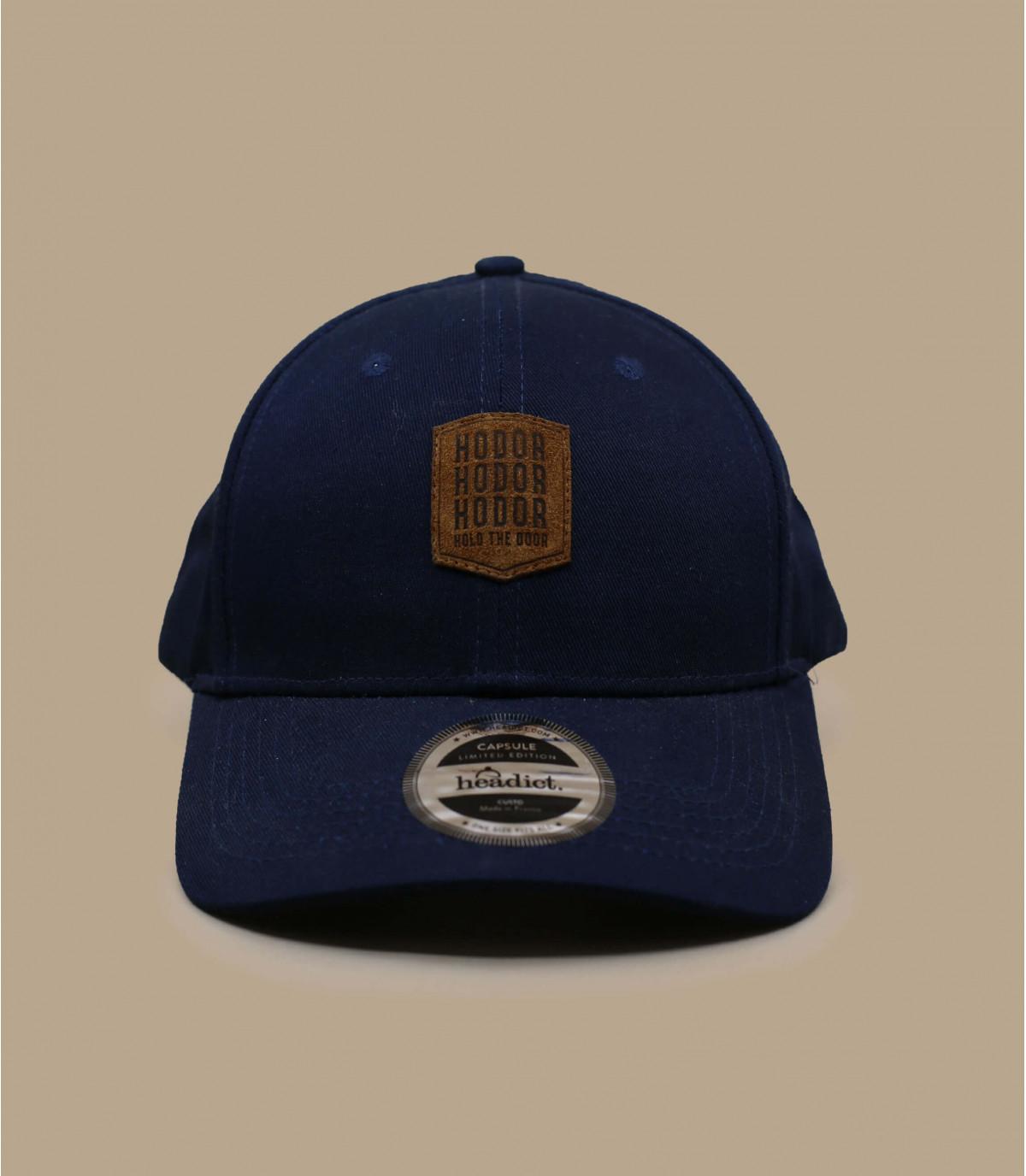 blue Hodor curve cap