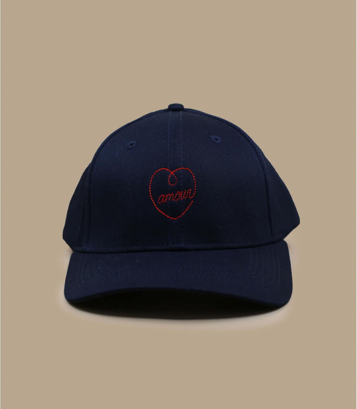 Détails Broderie en rouge casquette coquée - image 2