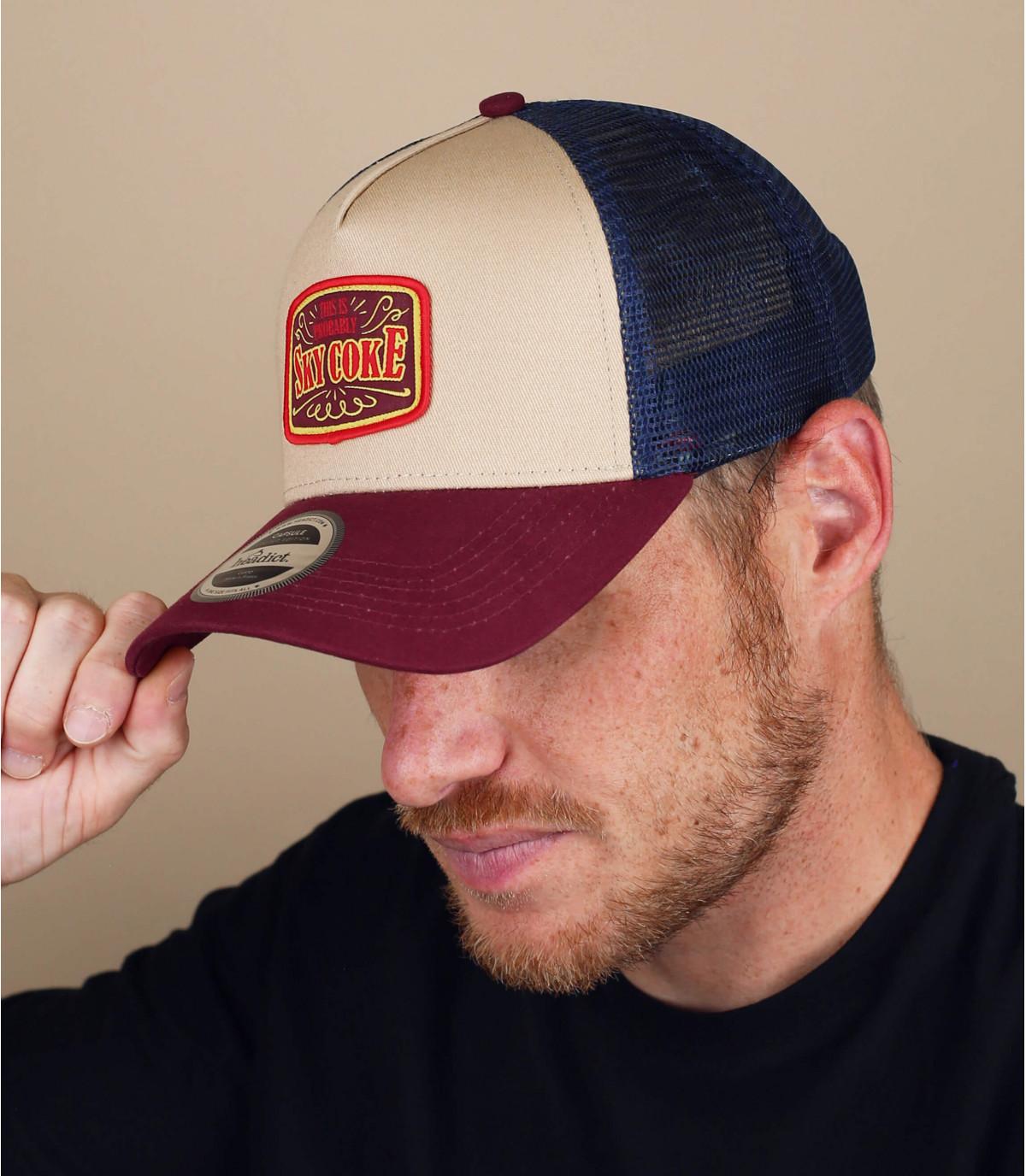 burgundy Sky Coke trucker cap