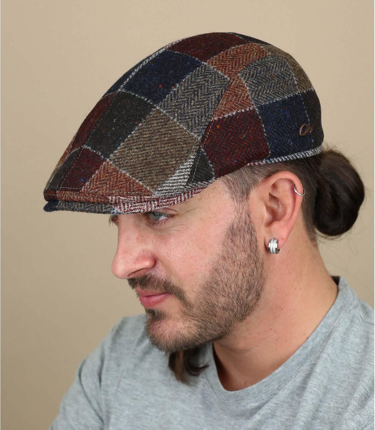 Patchwork wool cap