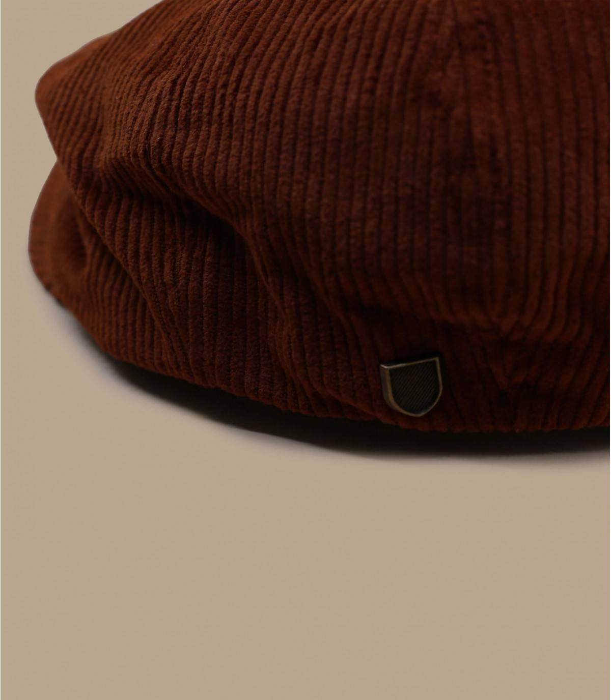 burgundy corduroy newsboy cap