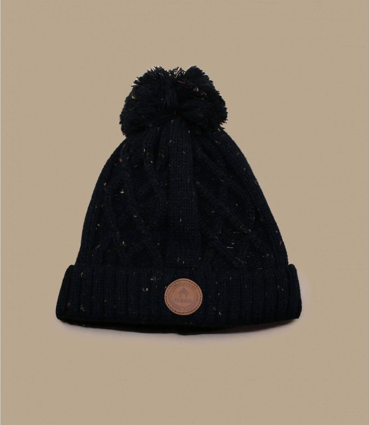 black pompom beanie Cabaia