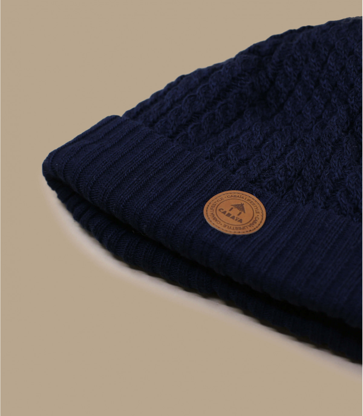 blue beanie exchangeable pompom
