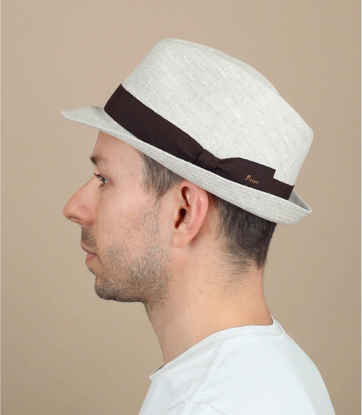 Fléchet beige linen hat