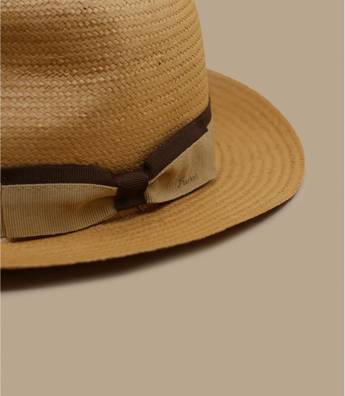 beige straw fedora