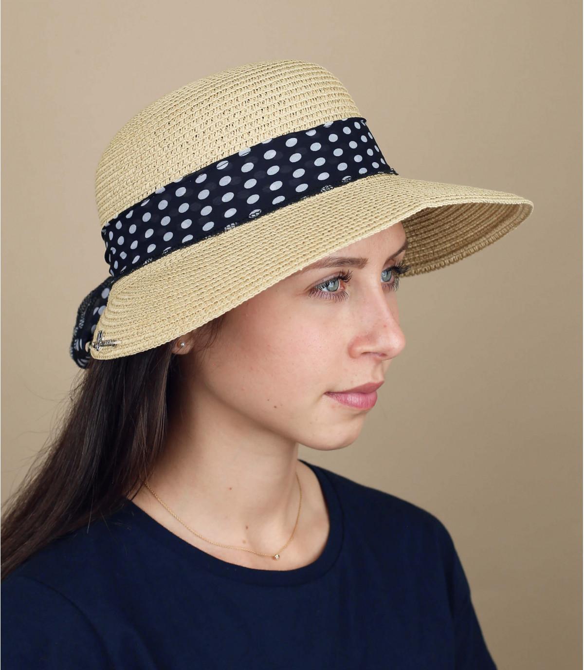 straw visor dots