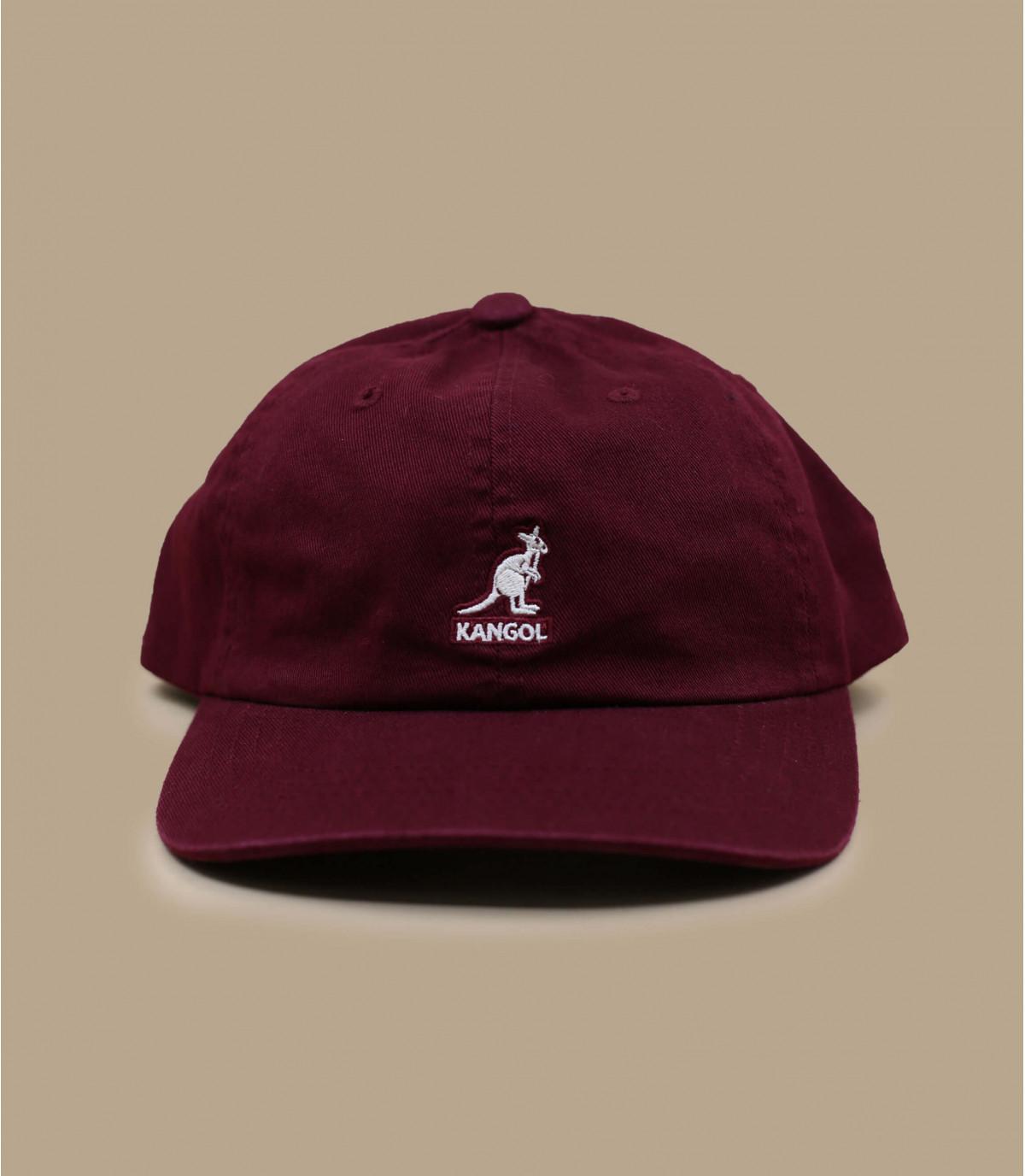 burgundy Kangol cap