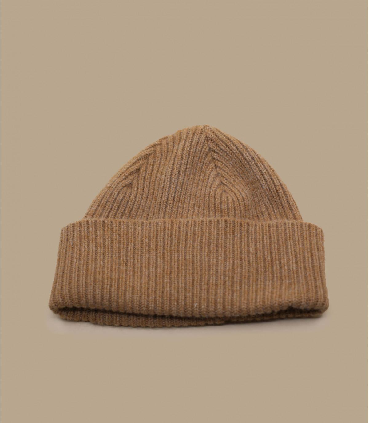 beige cuffed beanie wool angora