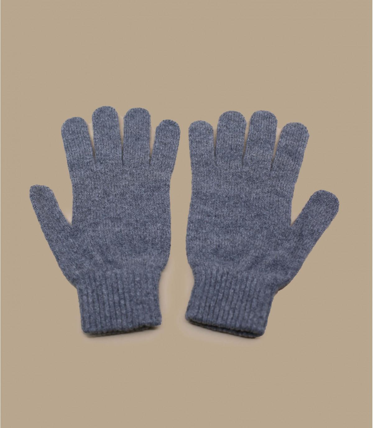 heather grey wool gloves