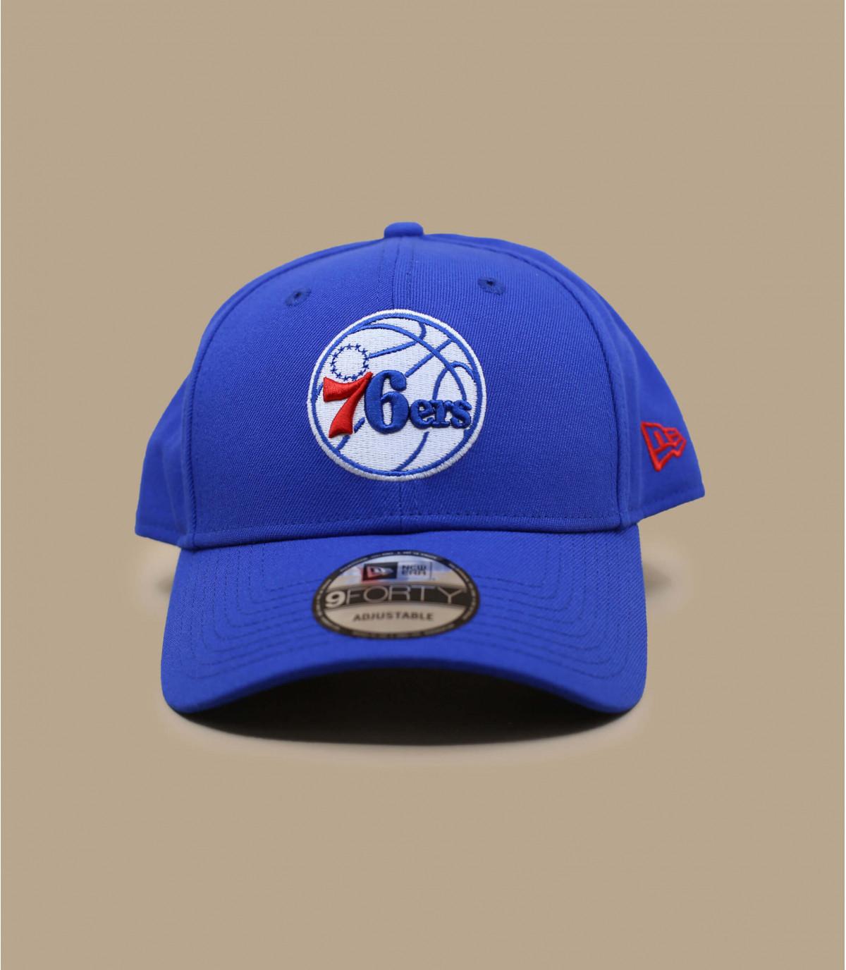 pink and blue LA cap