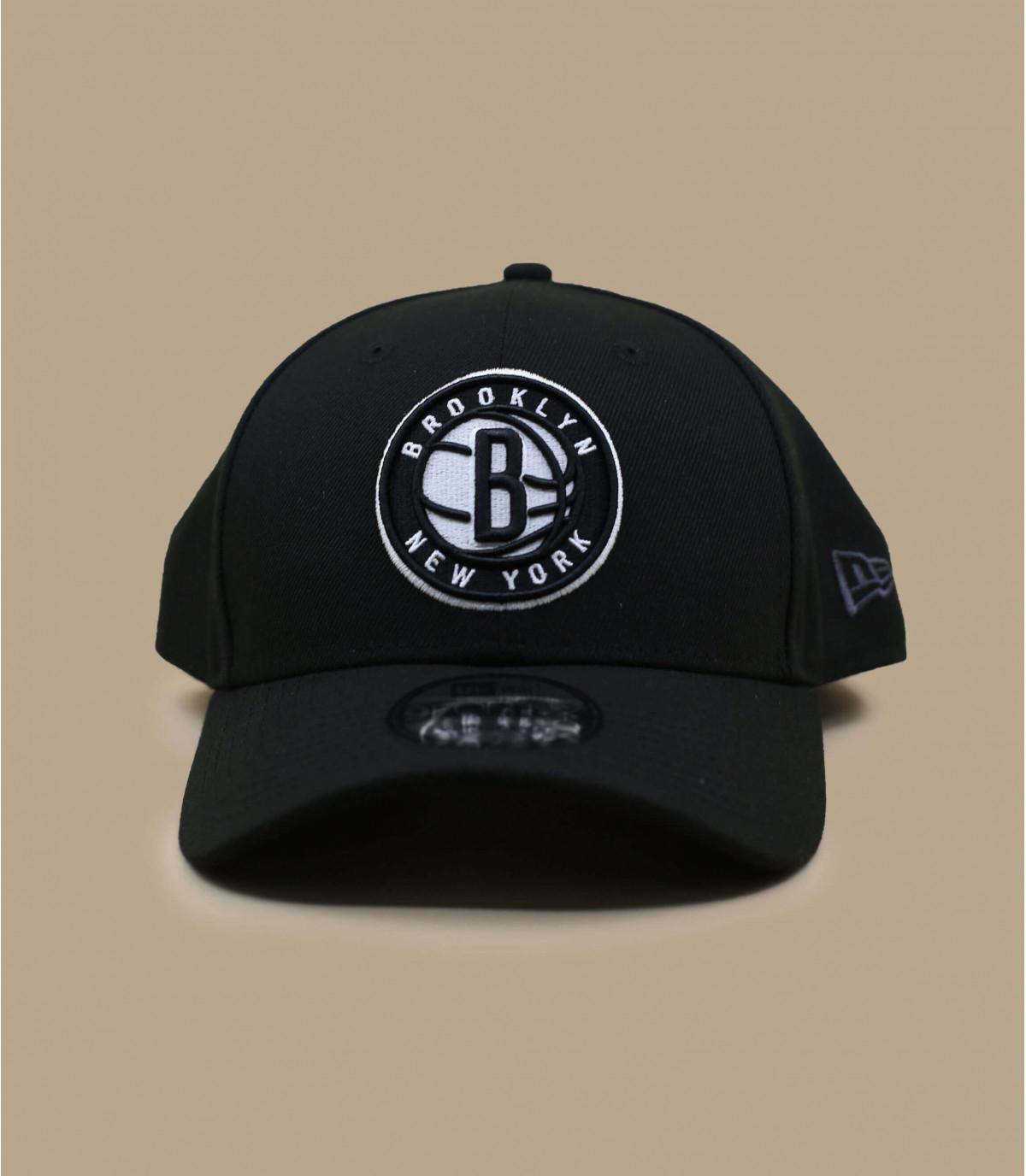 black Nets NBA curve cap
