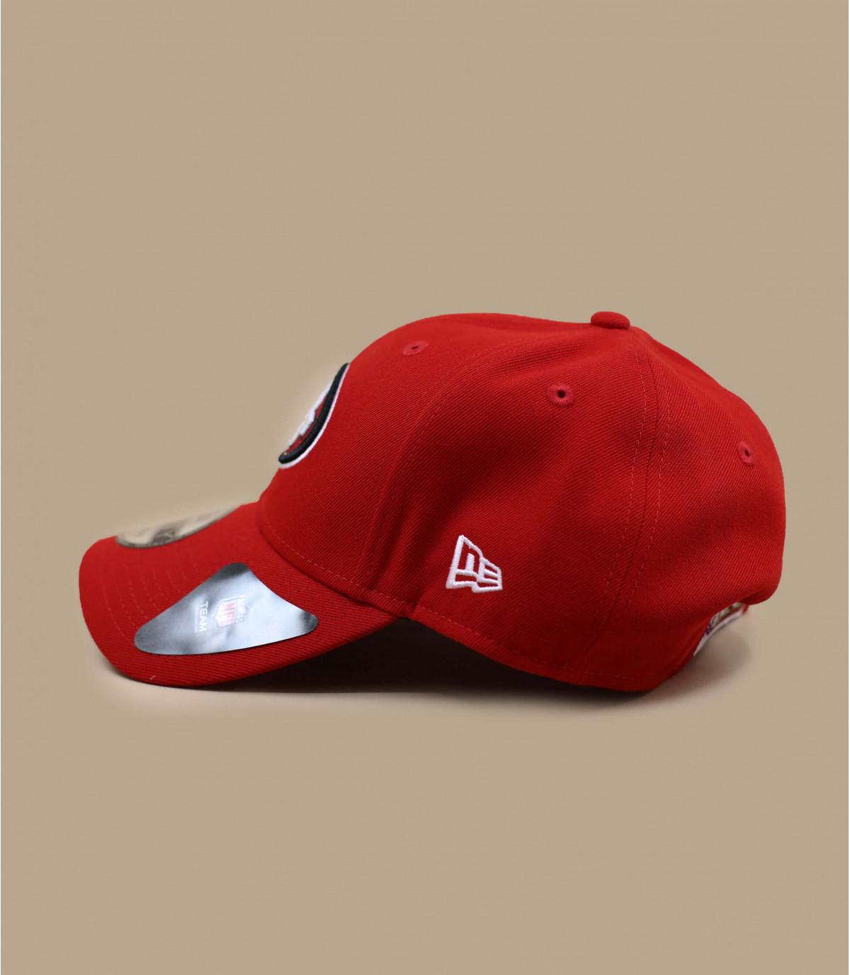 red 49ers curve cap
