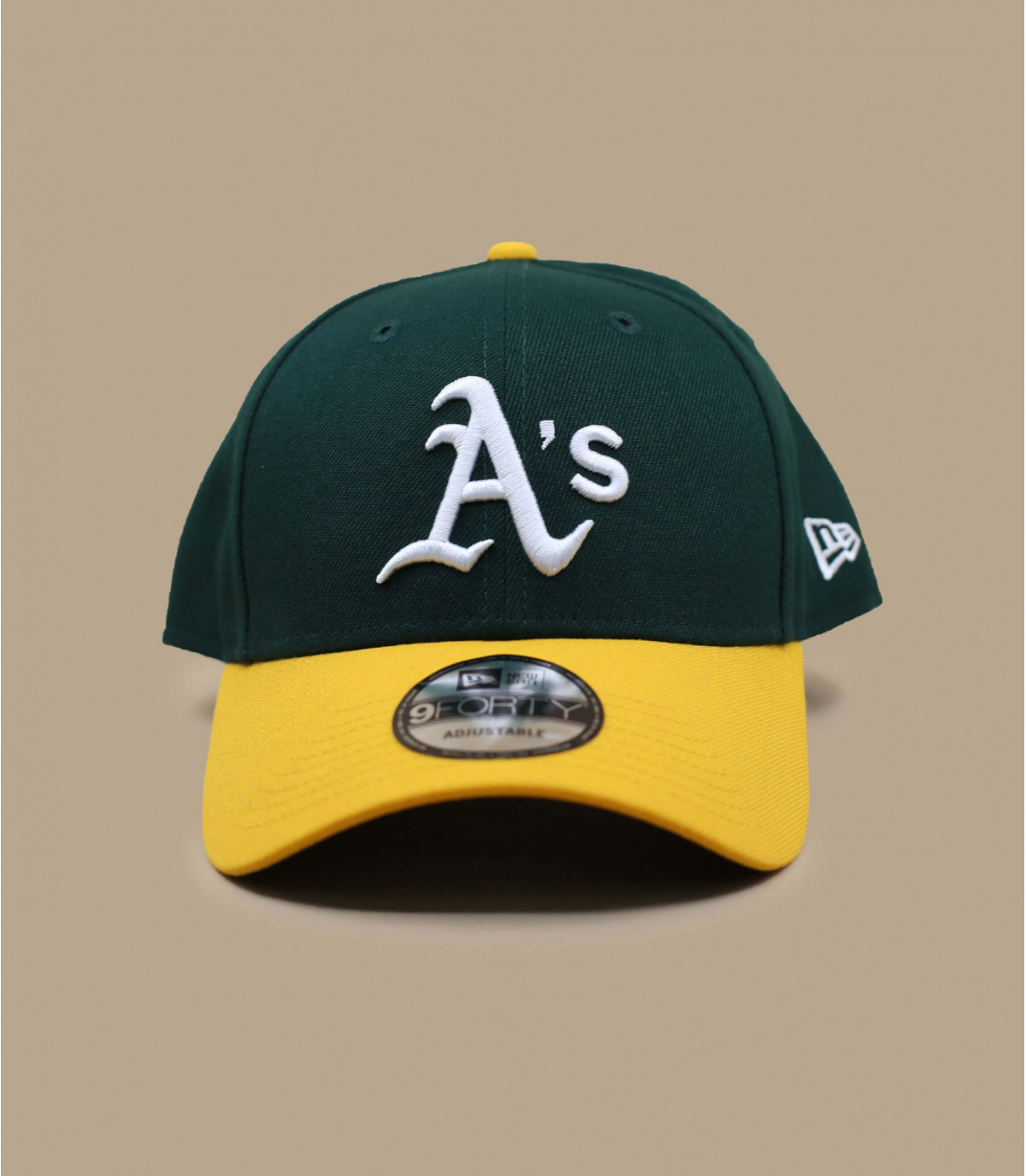 green yellow A cap