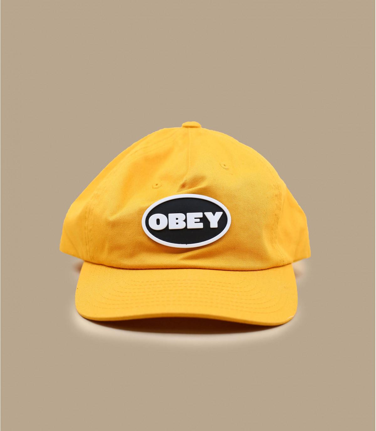 Obey yellow 5 panel cap