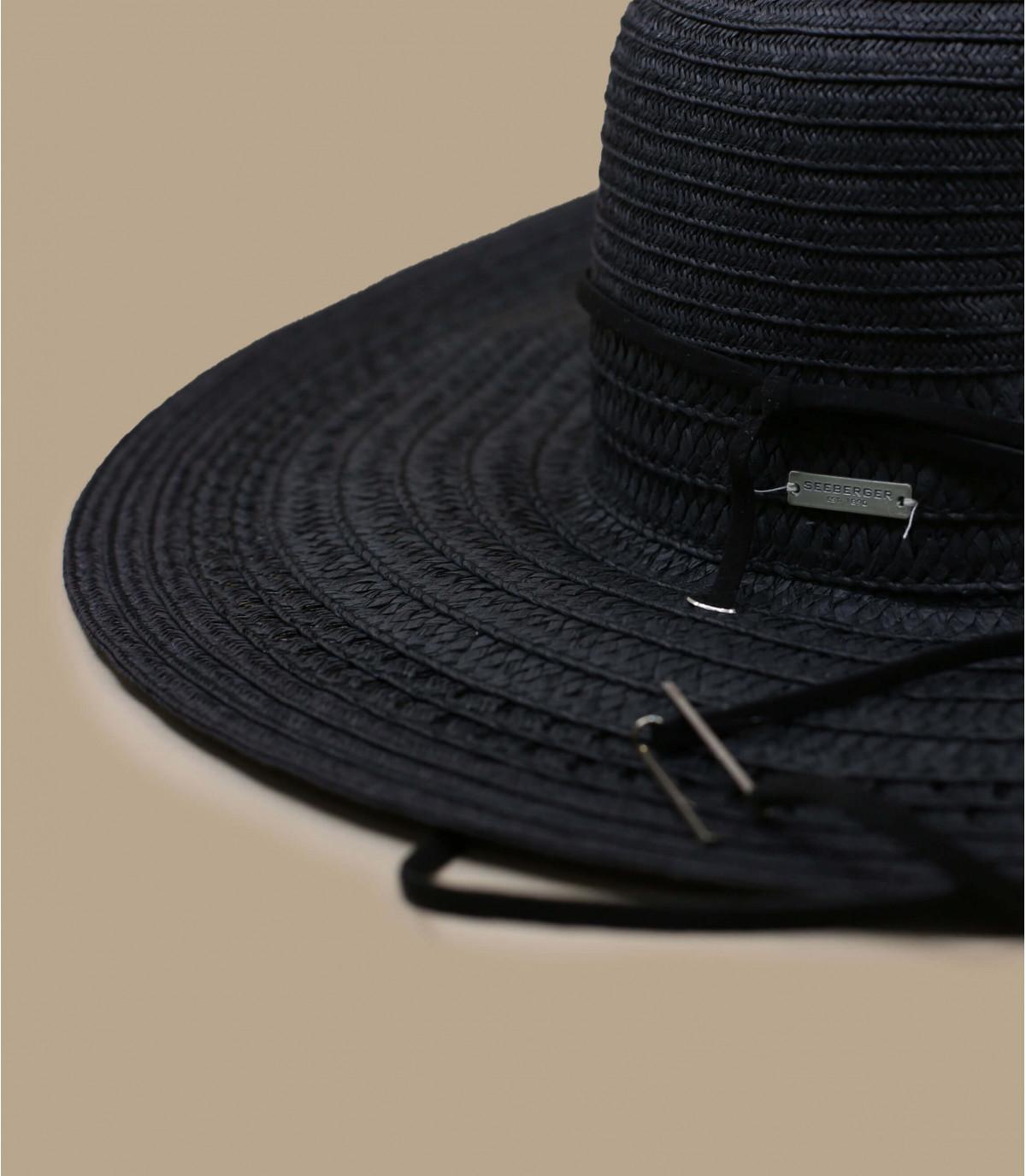 black straw hat Seeberger