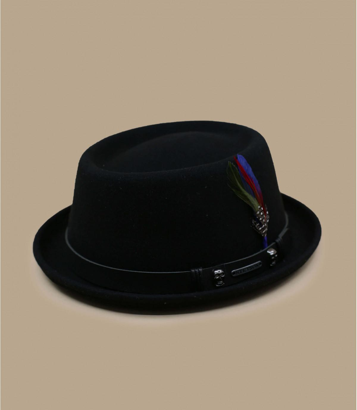Wool felt pork pie hat