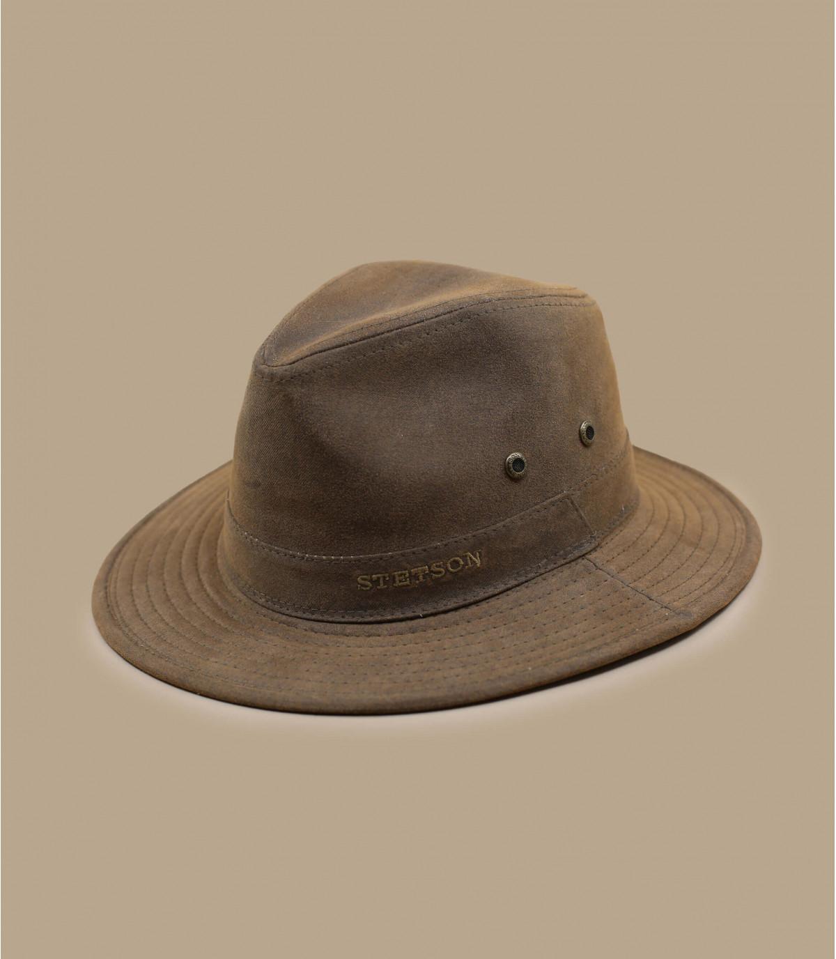 brown cotton hat