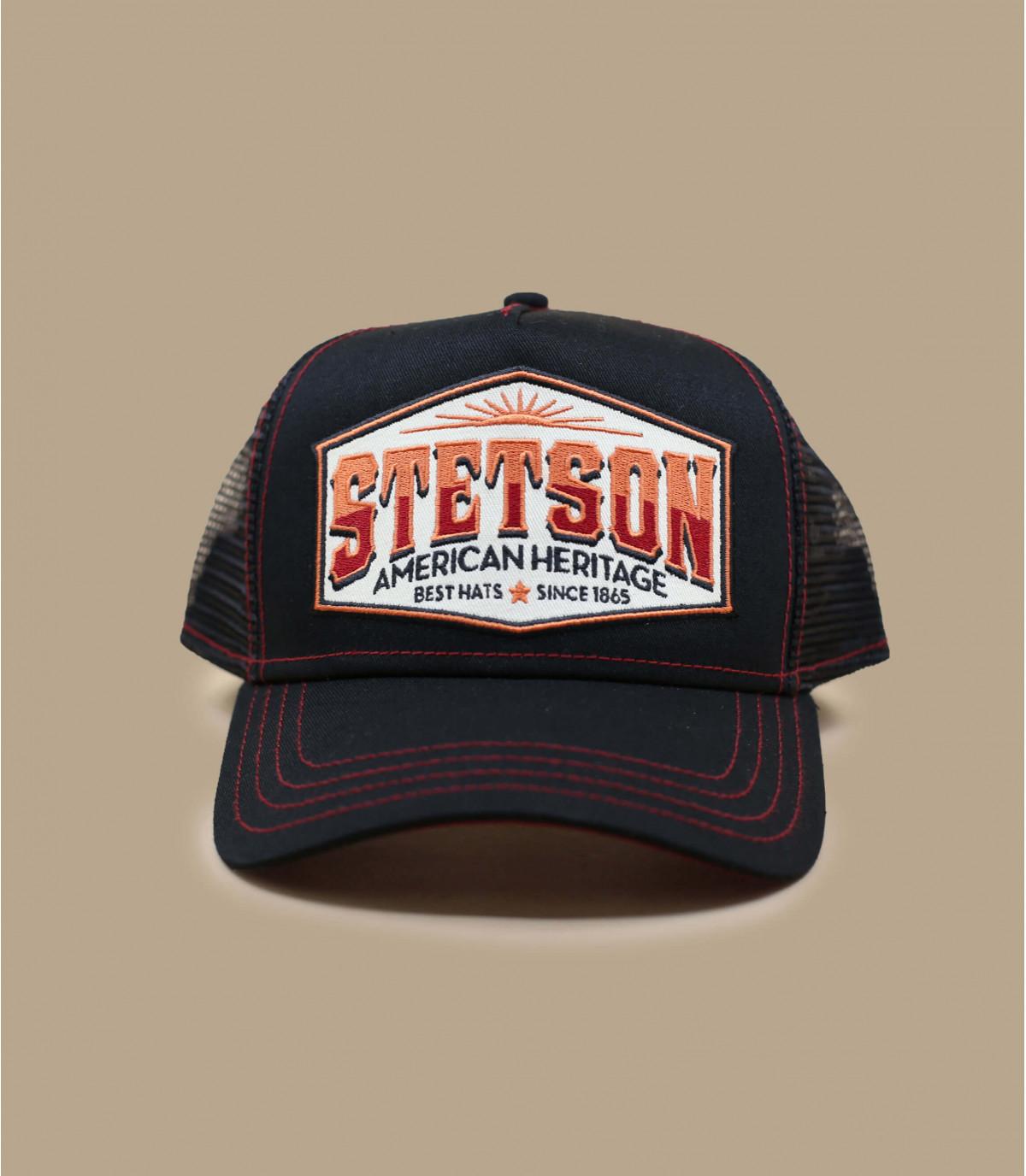 black Stetson trucker hat