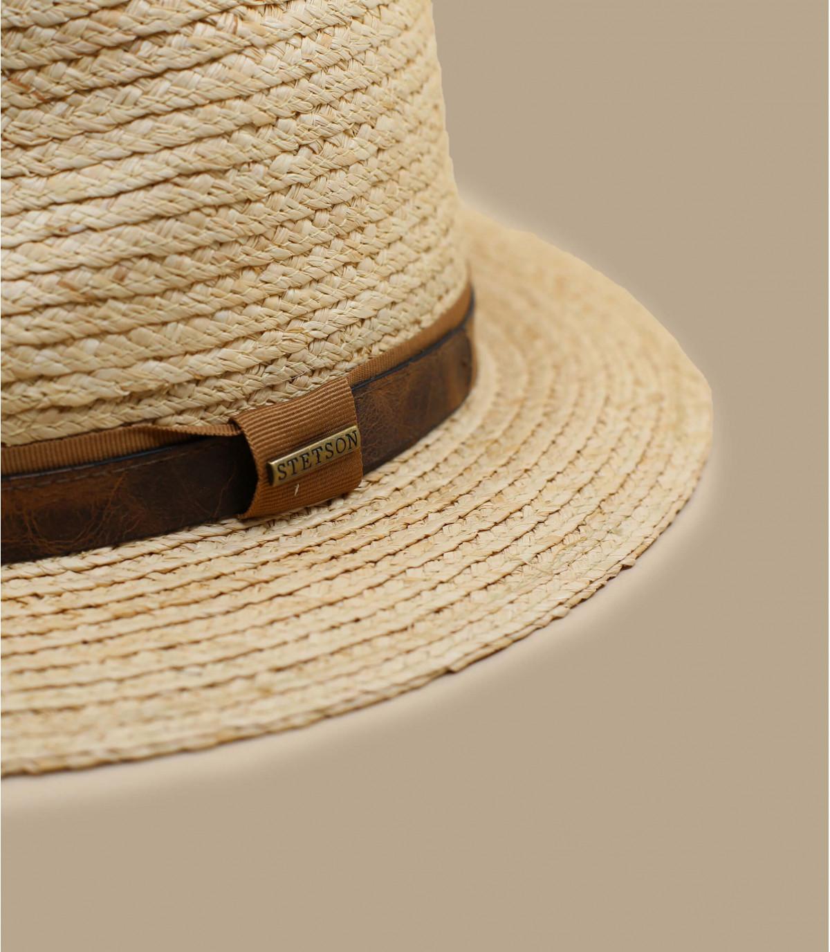 beige straw hat Stetson