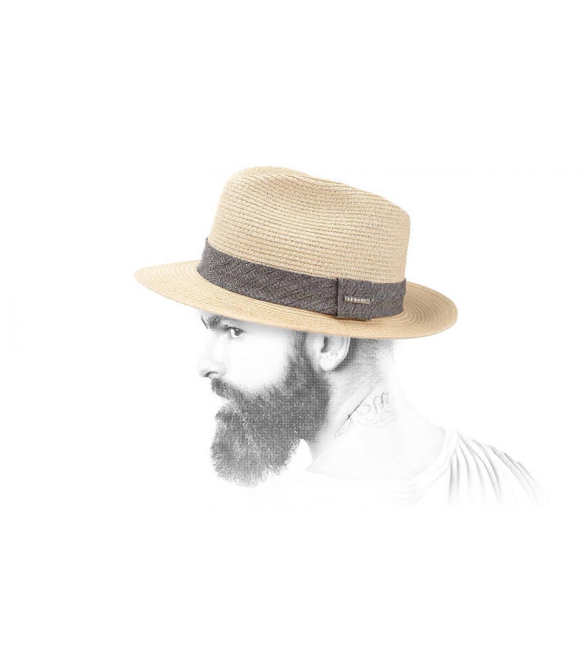 straw hat men Stetson