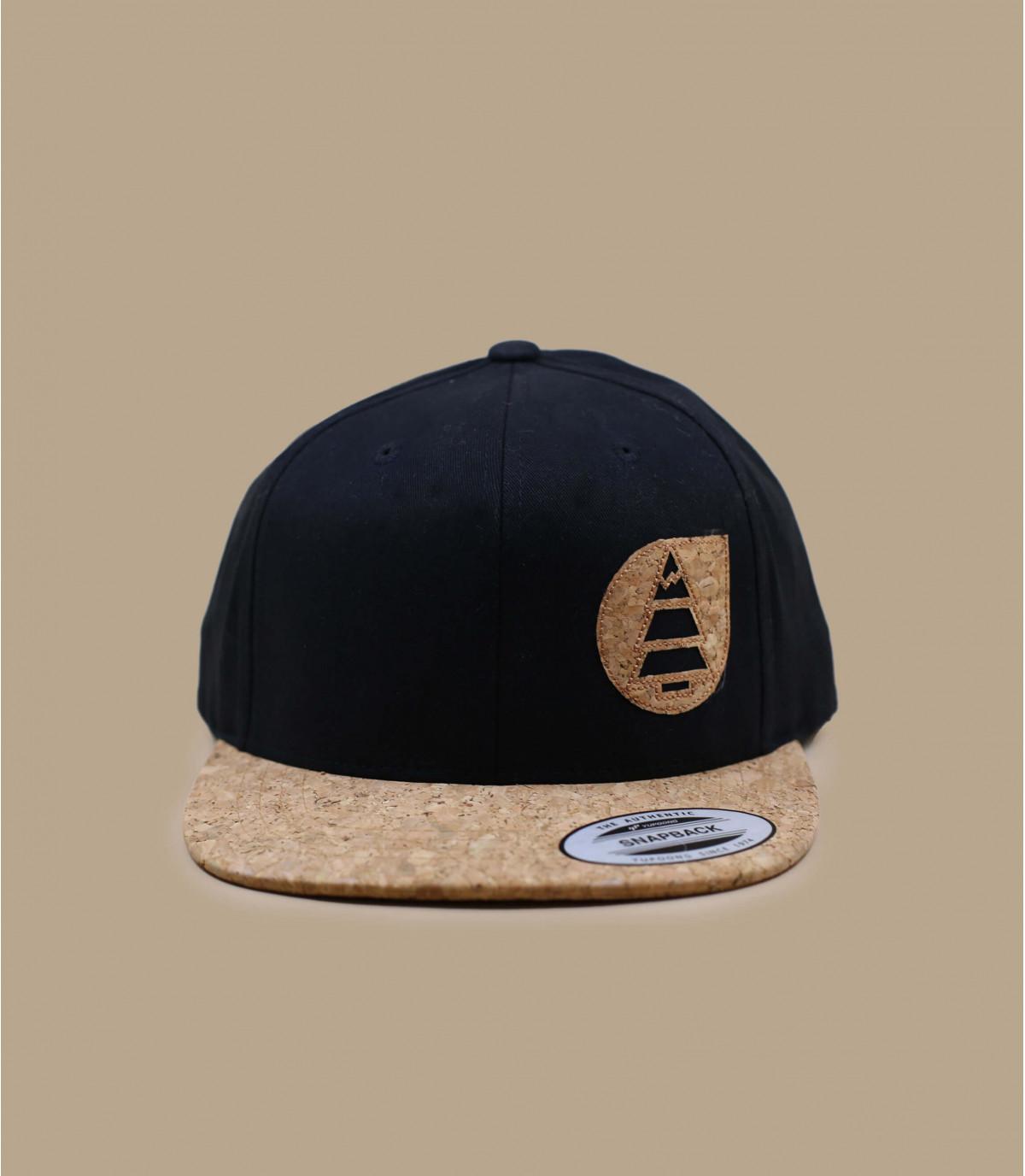 Picture cap black cork