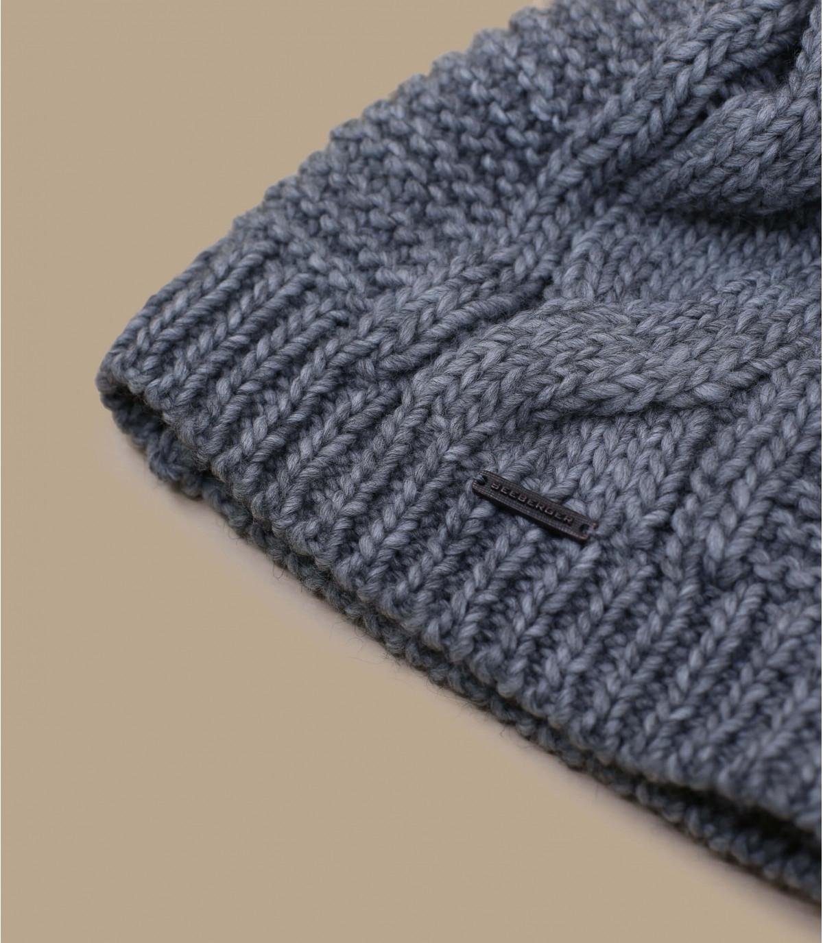 Détails Long beanie pompon grey - image 3