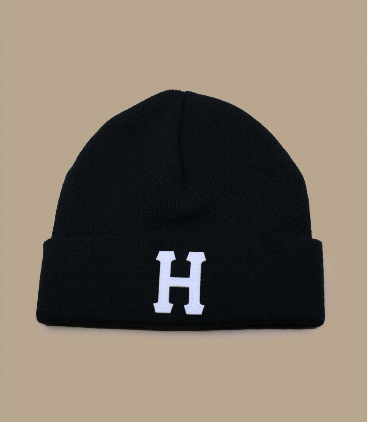 black H cuffed beanie