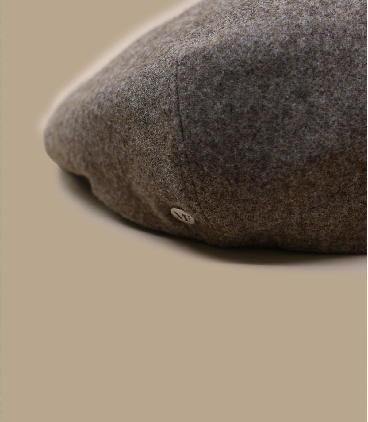beige wool newsboy cap