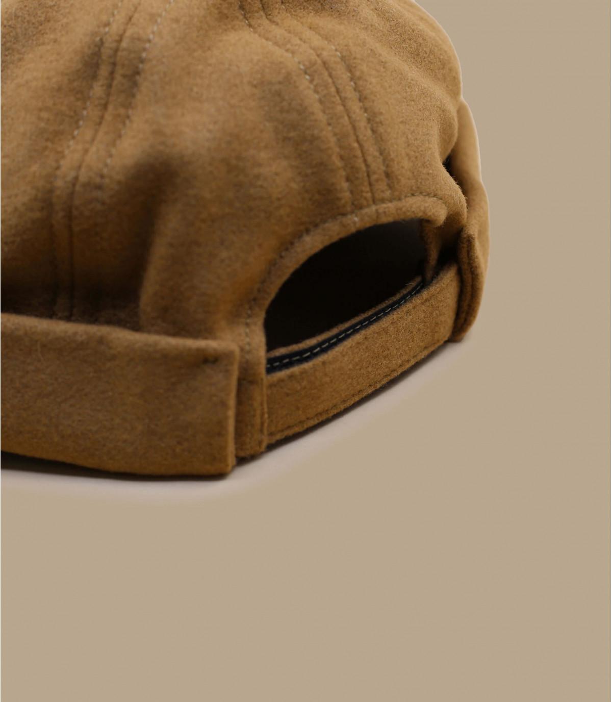 beige wool docker beanie