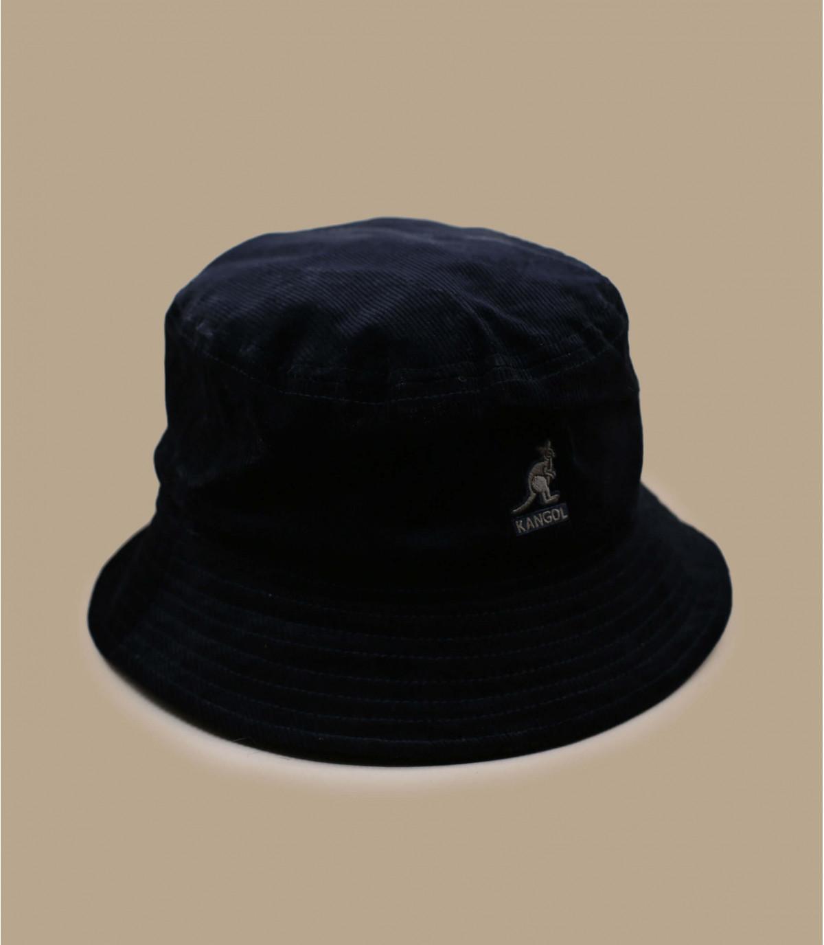 Black velvet bucket hat Kangol.