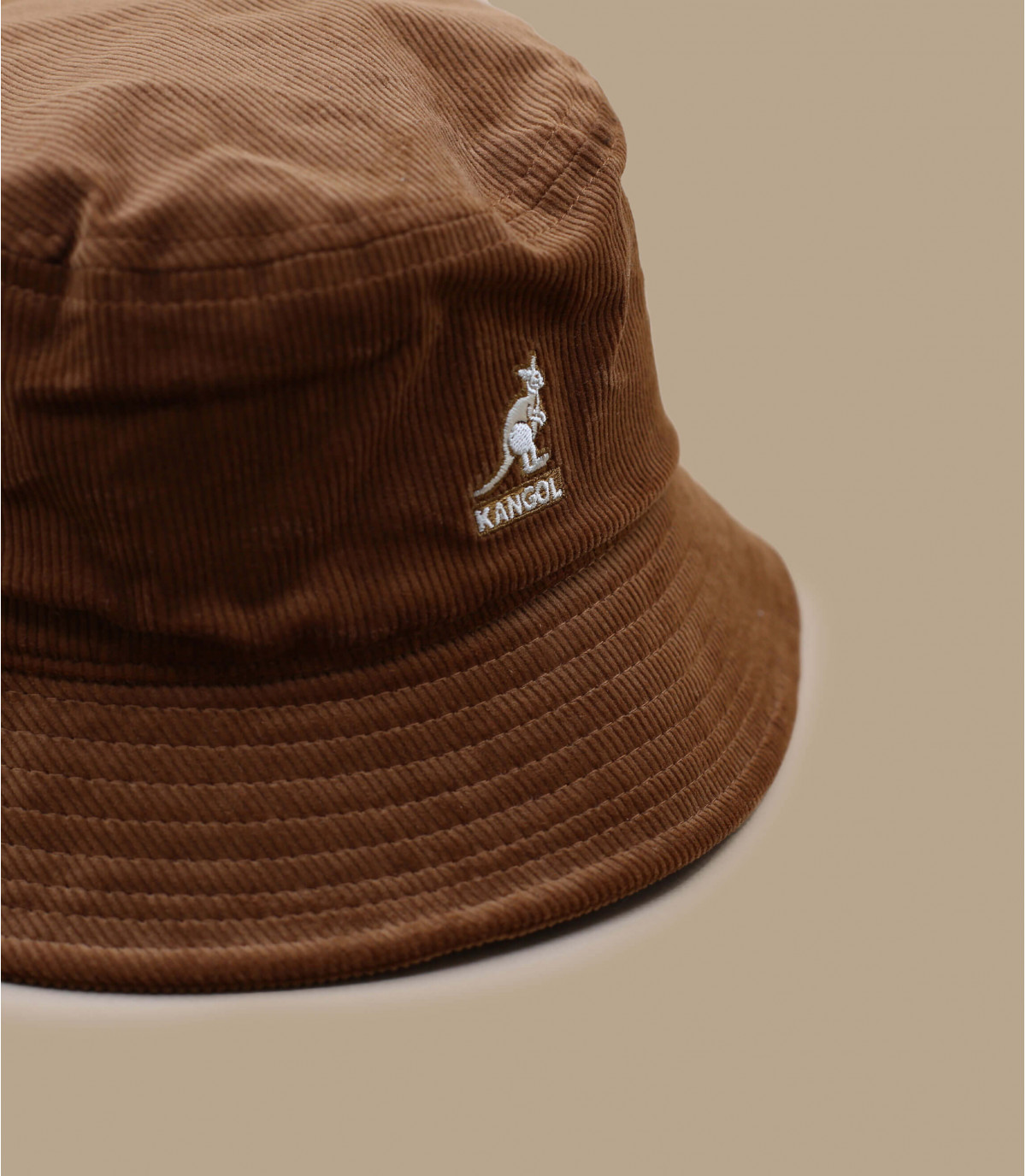 Brown velvet bucket hat Kangol.
