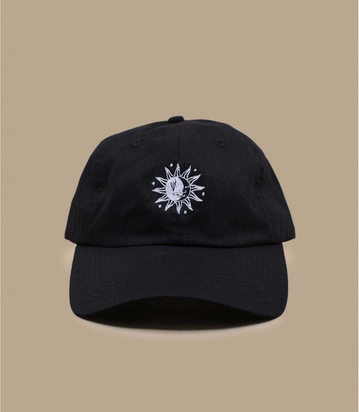 sun and moon curve cap black