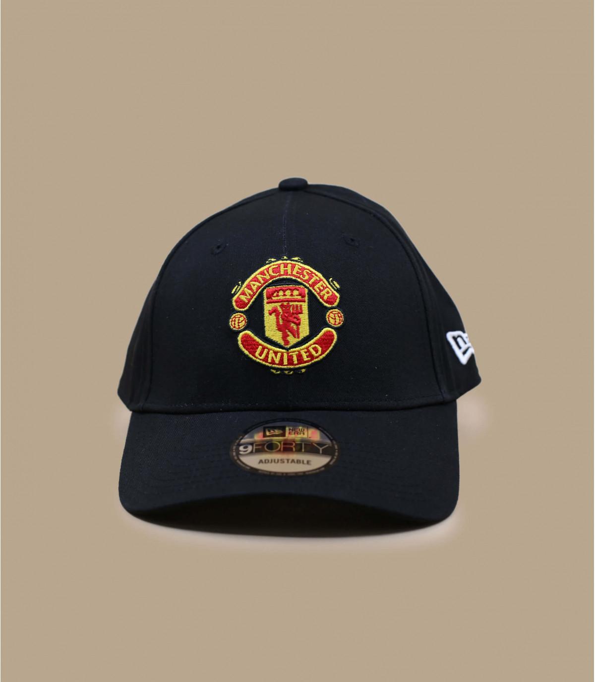 Black Manchester United curve cap