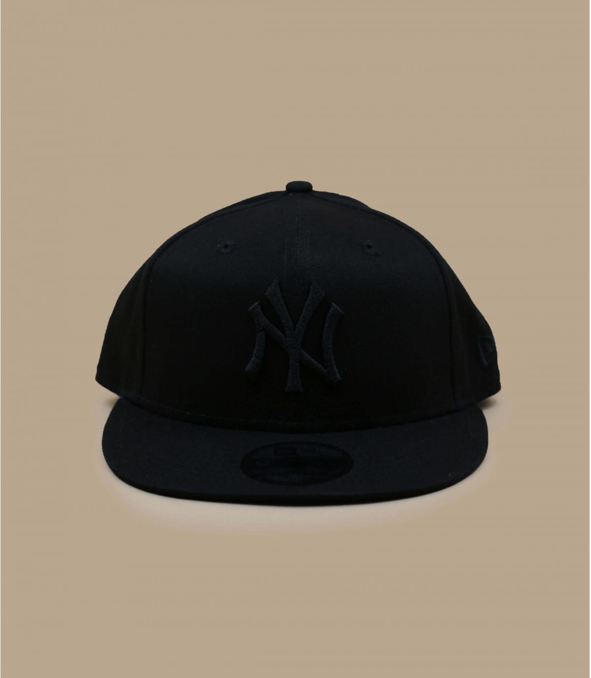 Black New Era snapback - Snapback NY MLB black black by New Era. Headict 298429f79b9