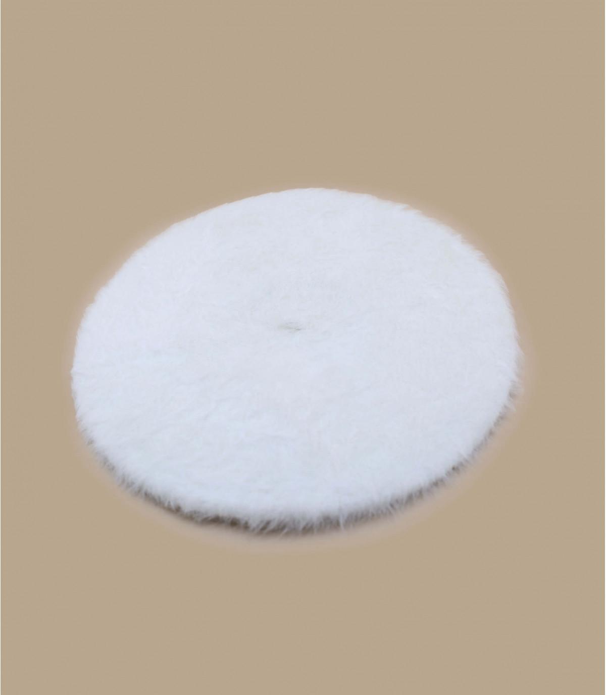 white angora beret Laulhère