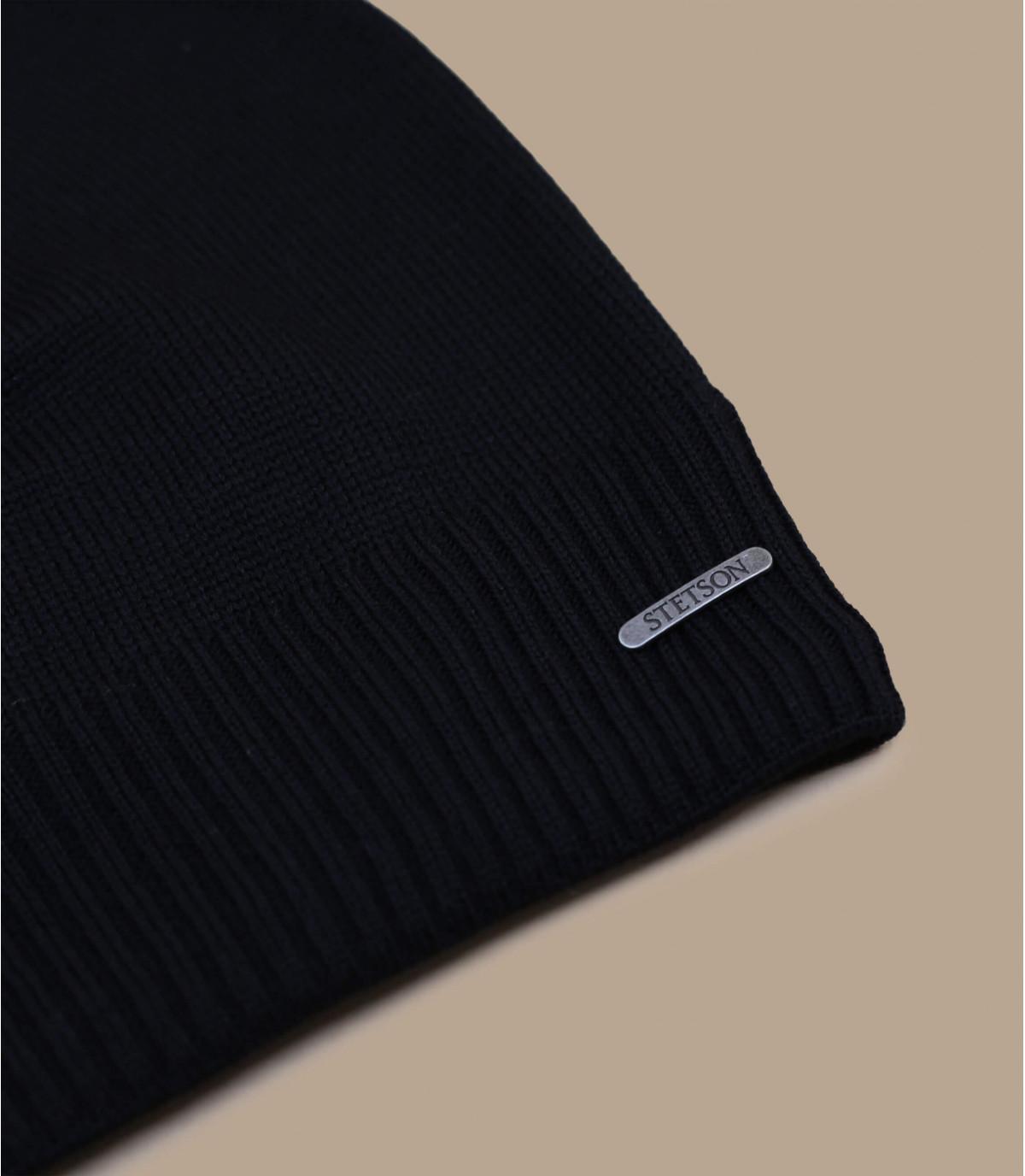 b4af17716b13c long black beanie merino wool - Beanie Oversized WV Merino black by ...