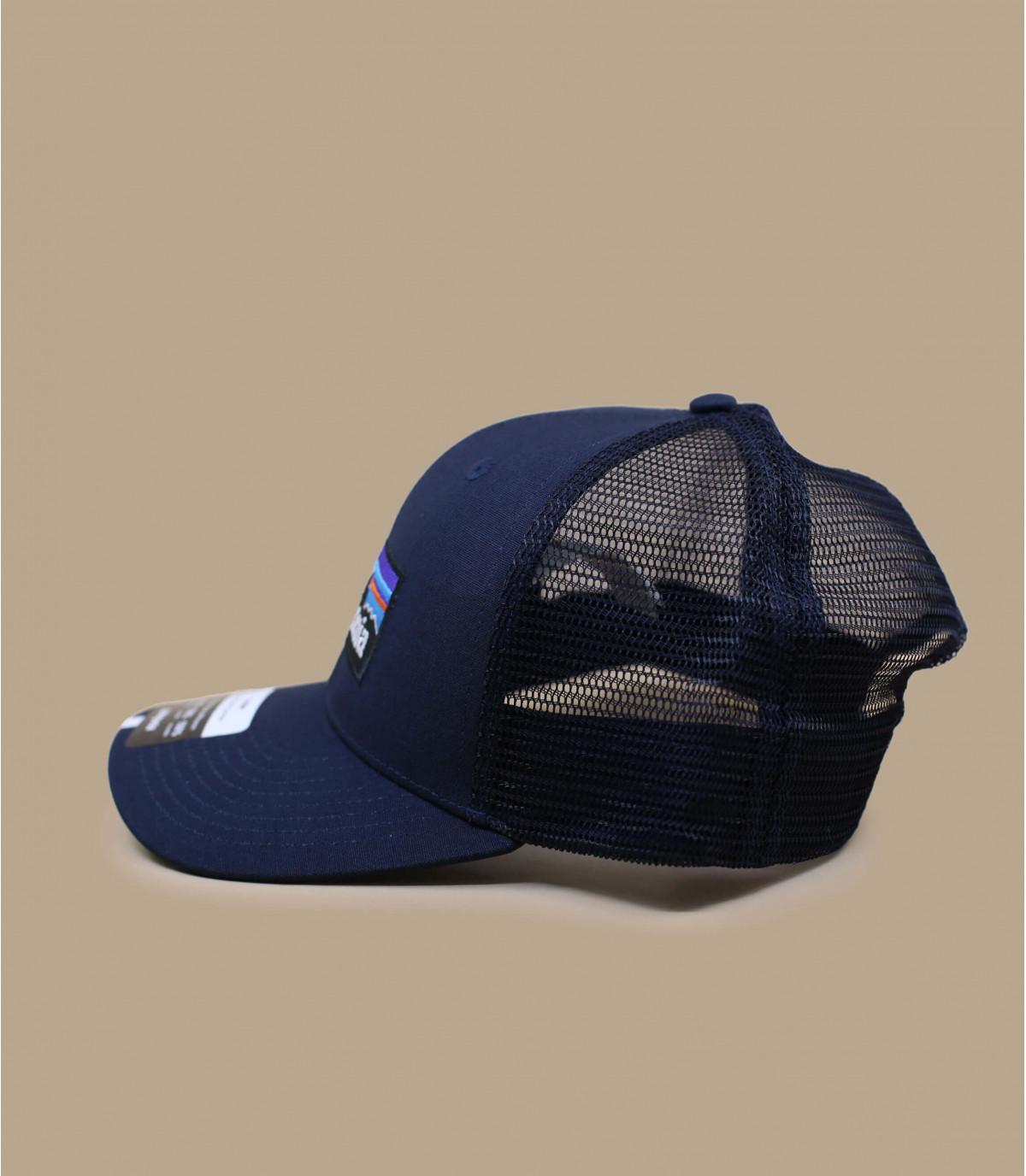 51792052779 Navy trucker cap - P6 logo trucker hat navy blue by Patagonia. Headict