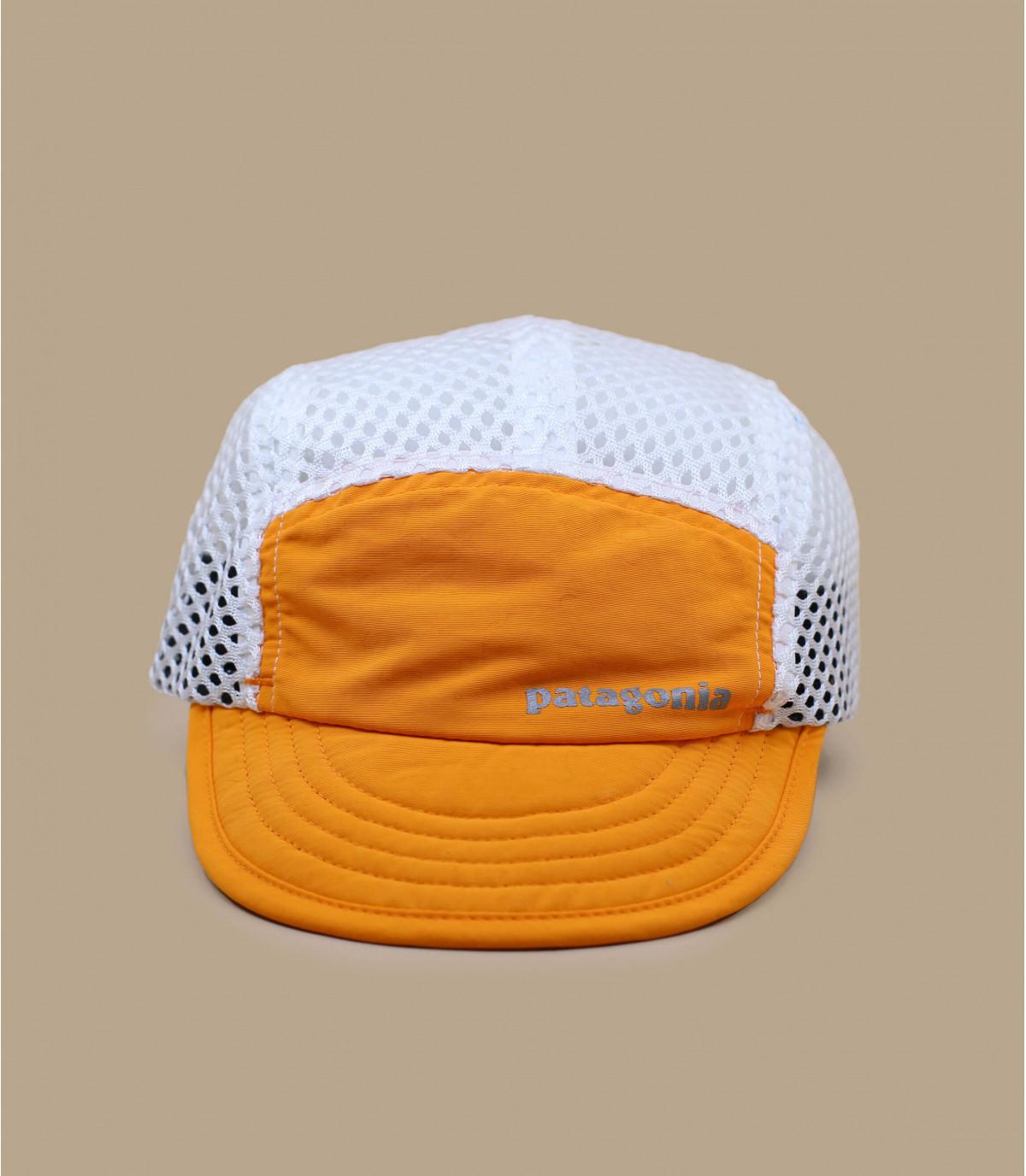 orange Patagonia cap