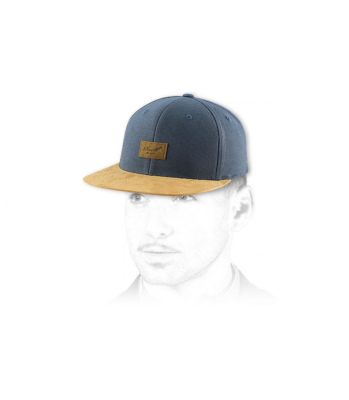 bc9eb0991b7 Snapback dark grey suede - Suede cap charcoal snapback by Reell. Headict